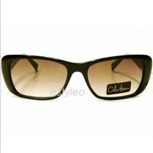 Cole Haan Rectangular cat eye Sunglasses Green